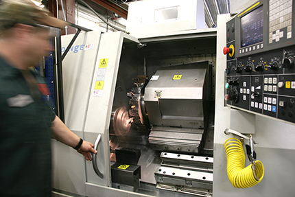 1997, First CNC milling center and CNC lathe purchased
