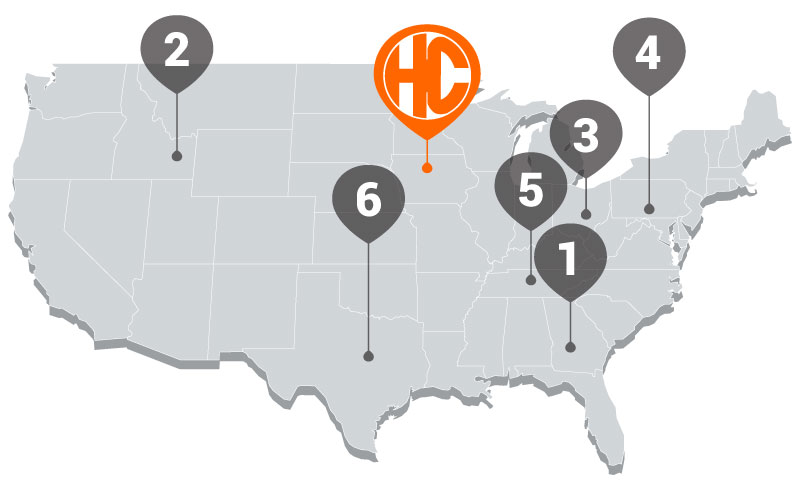Hy-Capacity Tractor Parts Warehouse Locations