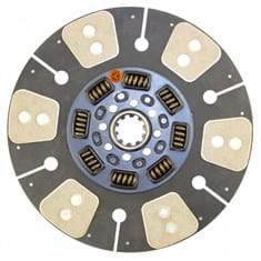 "14"" Transmission Disc, 6 Pad, w/ 1-3/4"" 10 Spline Hub - Reman"