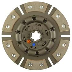 "9"" Transmission Disc, 6 Pad, w/ 1-1/4"" 6 Spline Hub - Reman"