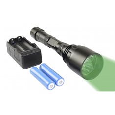 Heavy Duty Green Tactical Rechargeable Flashlight w/ Battery, 3800 Lumens