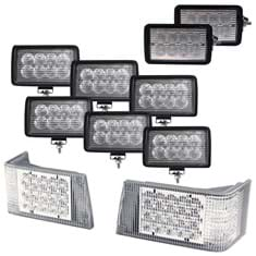 CREE LED Hi-Lo & Flood Beam Complete Light Kit for Magnum Tractors
