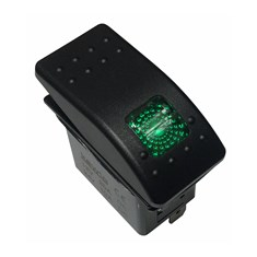 Rocker Switch - Green LED