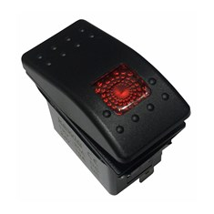 Rocker Switch - Red LED