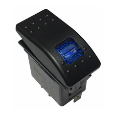 Rocker Switch - Blue LED