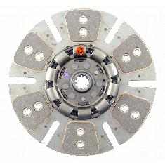 "12"" Transmission Disc, 6 Pad, w/ 1-1/8"" 10 Spline Hub - Reman"