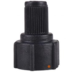Back Seat Fittings Replacement Cap, Black