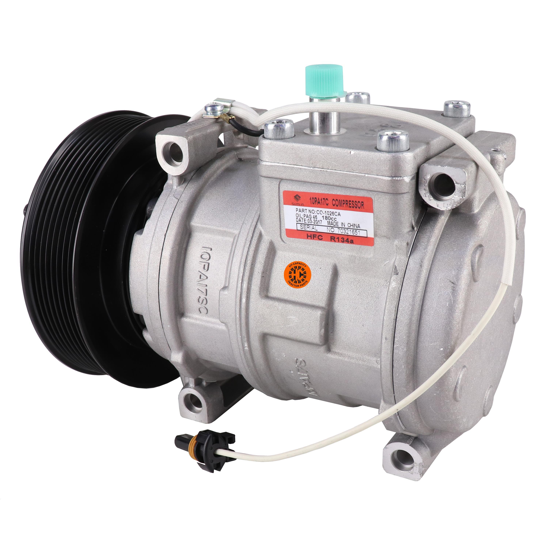 Nippondenso 10PA17C Compressor, w/ 8 Groove Clutch - New