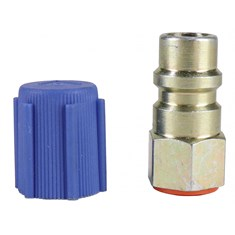 "1/4"" to R134A Adapter, Low Side, Straight"