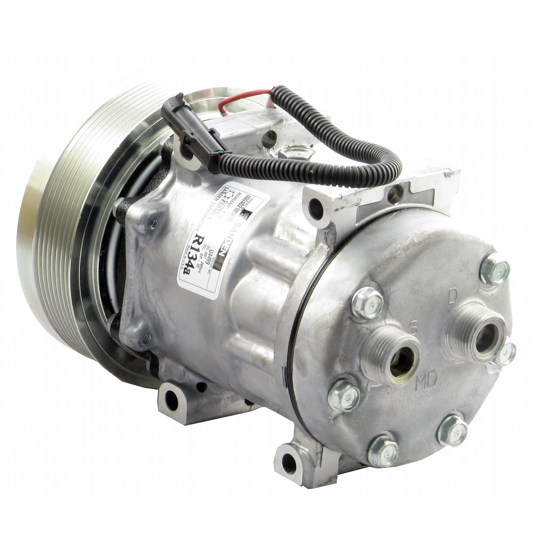 Genuine Sanden SD7H15 Compressor, w/ 8 Groove Clutch - New