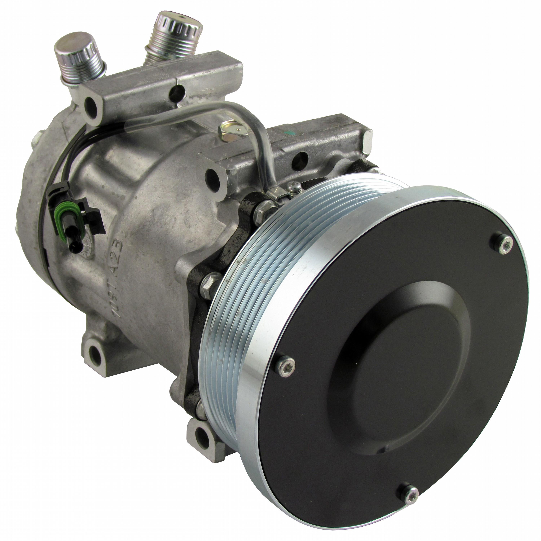Genuine Sanden SD7H15SHD Compressor, w/ 8 Groove Clutch - New
