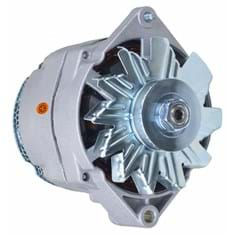 Alternator - New, 12V, 105A, 10SI, Aftermarket Delco Remy
