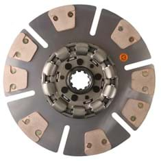 "14"" Transmission Disc, 8 Pad, w/ 1-3/4"" 10 Spline Hub - Reman"