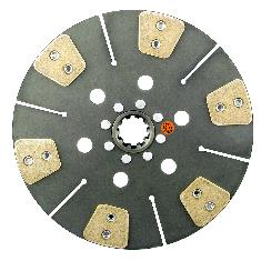 "13"" Transmission Disc, 6 Pad, w/ 1-3/4"" 10 Spline Hub - New"