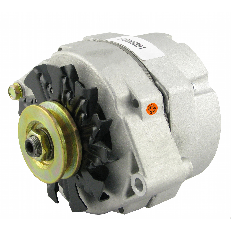 Alternator - New, 12V, 63A, 10SI, Aftermarket Delco Remy