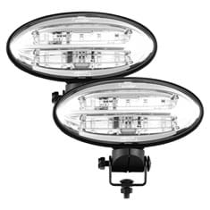 JW Speaker LED Flood Beam Pedestal Mount Light Set, 2750 Lumens - (Pkg. of 2)