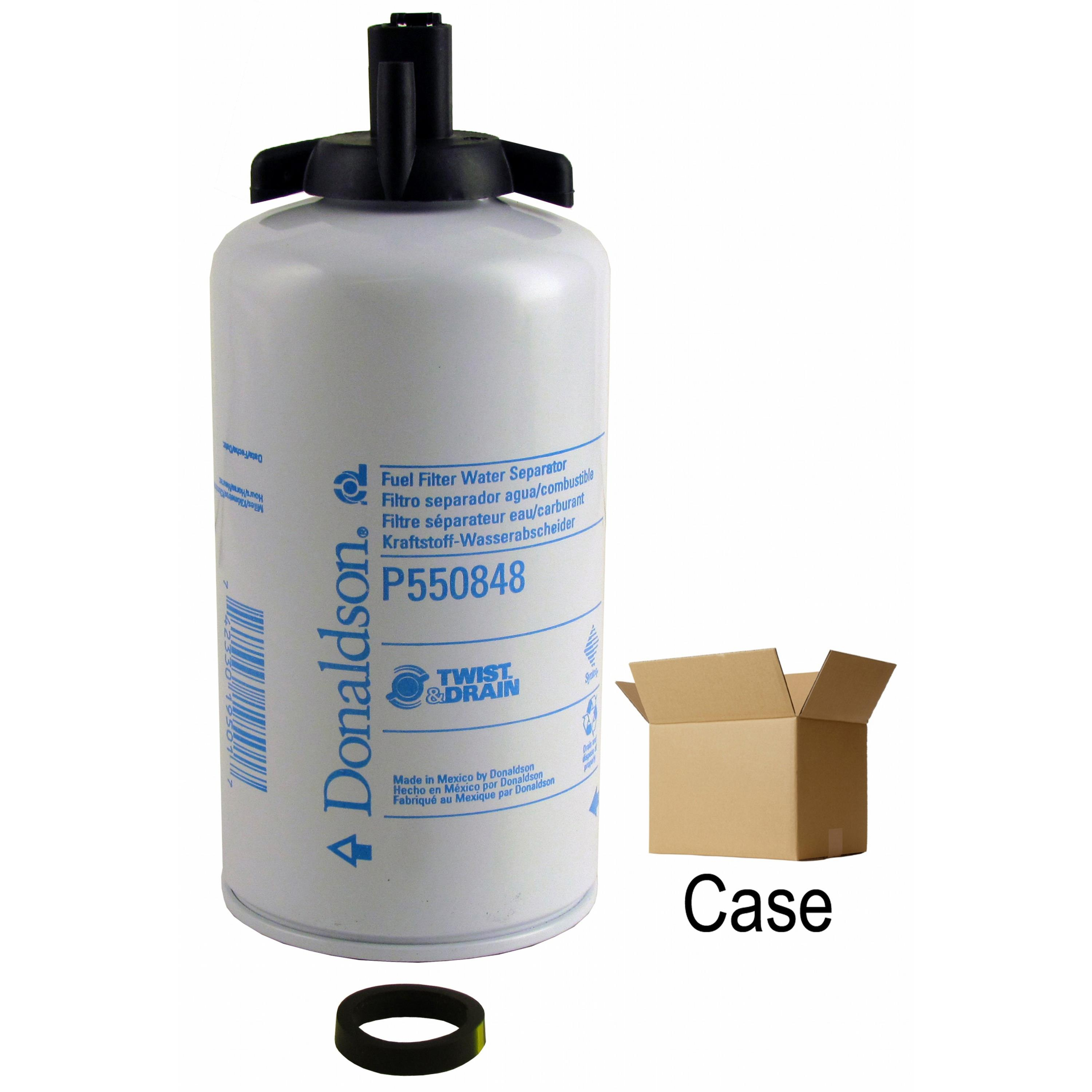 Fuel Water Separator Filter >> Donaldson Fuel Water Separator Filter Spin On Case Of 12