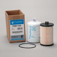 Donaldson Fuel Filter Kit, Secondary, Spin-On