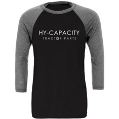 Hy-Capacity 3/4 Sleeve Baseball Tee, Size Medium