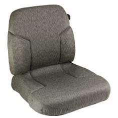 Cushion Set, Gray Fabric, Genuine Sears w/ Lumbar - (2 pc.)