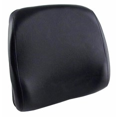 Back Cushion, Black Vinyl, Deluxe Style