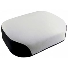Seat Cushion, Black & White Vinyl, Deluxe Style w/ Metal Core