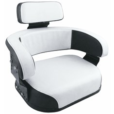 Wrap-Around Seat, Black & White Vinyl