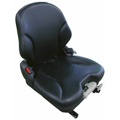 Grammer Low Back Seat, Black Vinyl w/ Mechanical Suspension