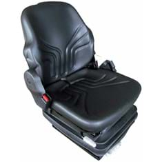 Grammer Mid Back Seat, Black Vinyl w/ Mechanical Suspension