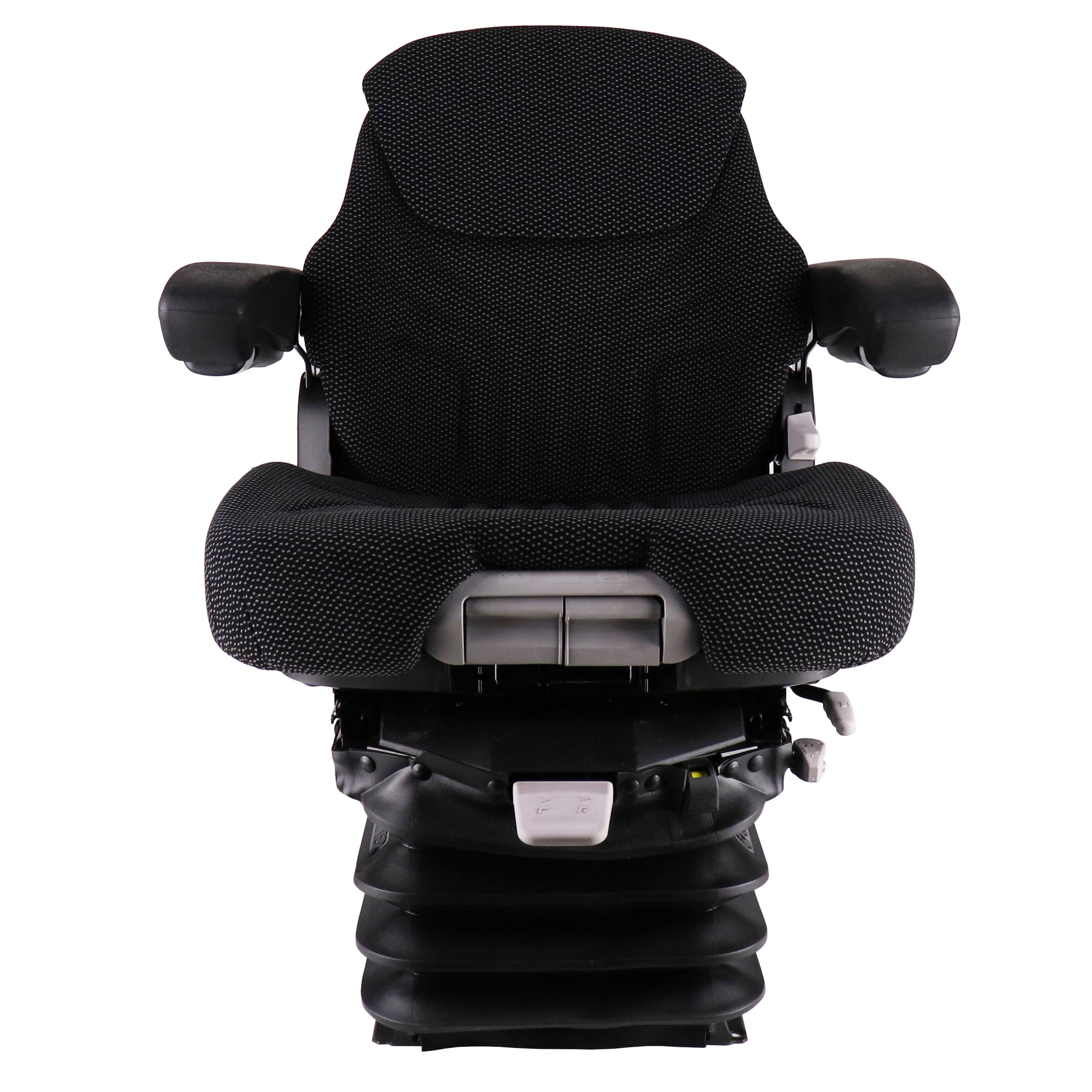 Grammer Mid Back Seat, Black & Gray Fabric w/ Air Suspension