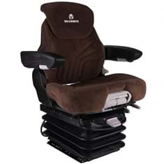 Grammer Mid Back Seat, Brown Fabric w/ Air Suspension
