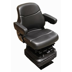 Sears Mid Back Seat, Black Vinyl w/ Mechanical Suspension