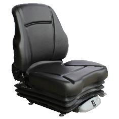 Sears Low Back Seat, Black Vinyl w/ Air Suspension