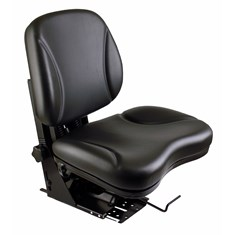 Sears Low Back Seat, Black Vinyl w/ Mechanical Suspension