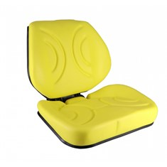 Low Back Seat, Yellow Vinyl w/ Mechanical Suspension