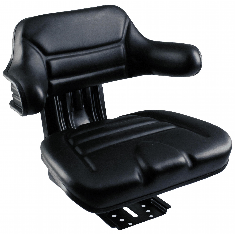 Black Vinyl Massey Ferguson Tractor Seat w// Wrap Around Back with Arms