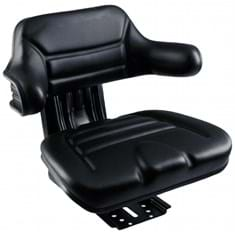 Wrap-Around Seat, Black Vinyl w/ Mechanical Suspension
