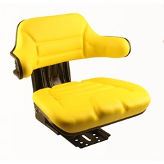 Wrap-Around Seat, Yellow Vinyl w/ Mechanical Suspension