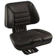 Low Back Seat, Black Vinyl w/ Mechanical Suspension