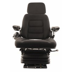 High Back Seat, Black Fabric w/ Mechanical Suspension