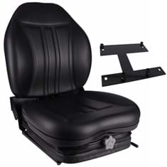 High Back Seat, Black Vinyl w/ Integrated Suspension