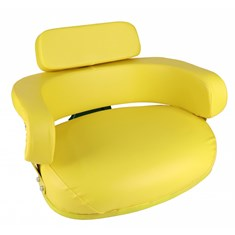 Wrap-Around Seat, Yellow Vinyl