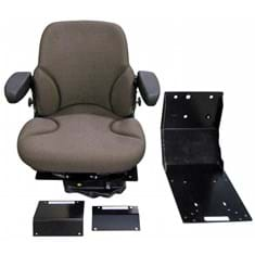 Sears Mid Back Seat, Brown Fabric w/ Air Suspension
