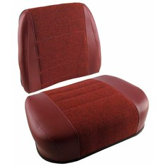 Cushion Set, Maroon Fabric & Vinyl, w/ Welded Brackets - (2 pc.)