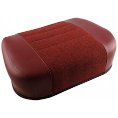 Seat Cushion, Maroon Fabric & Vinyl
