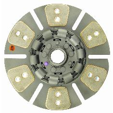 "13"" Transmission Disc, 6 Pad, w/ 1-3/4"" 27 Spline Hub - Reman"